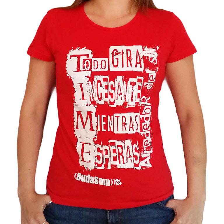 "Camiseta Chica Azul o Roja ""Alrededor Del Sol"""