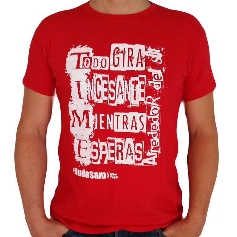 """Camiseta Chico Roja o Azul """"Alrededor Del Sol"""""""